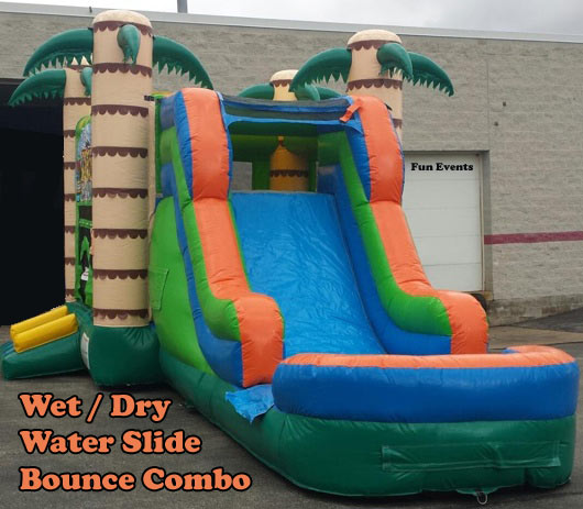 Tiki Island Inflatable Water Slide Bounce Combo