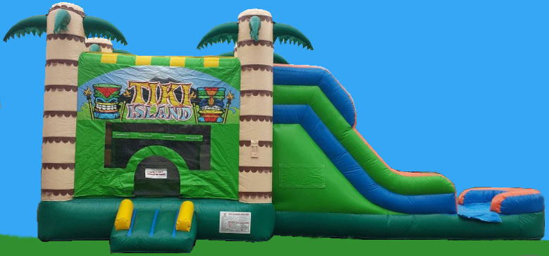 Tiki Island Water Inflatable Slide Rental