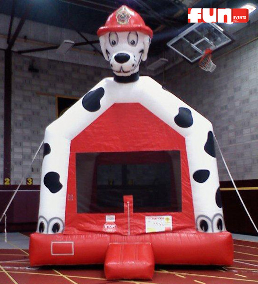 Prime Dalmatian Firehouse Dog Inflatable Bounce Party Rental Fun Home Interior And Landscaping Spoatsignezvosmurscom