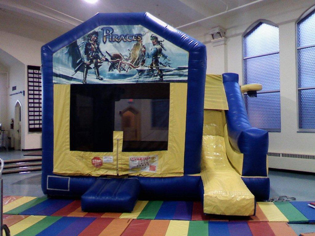 Pirate Theme Inflatable Bounce Combo Rental