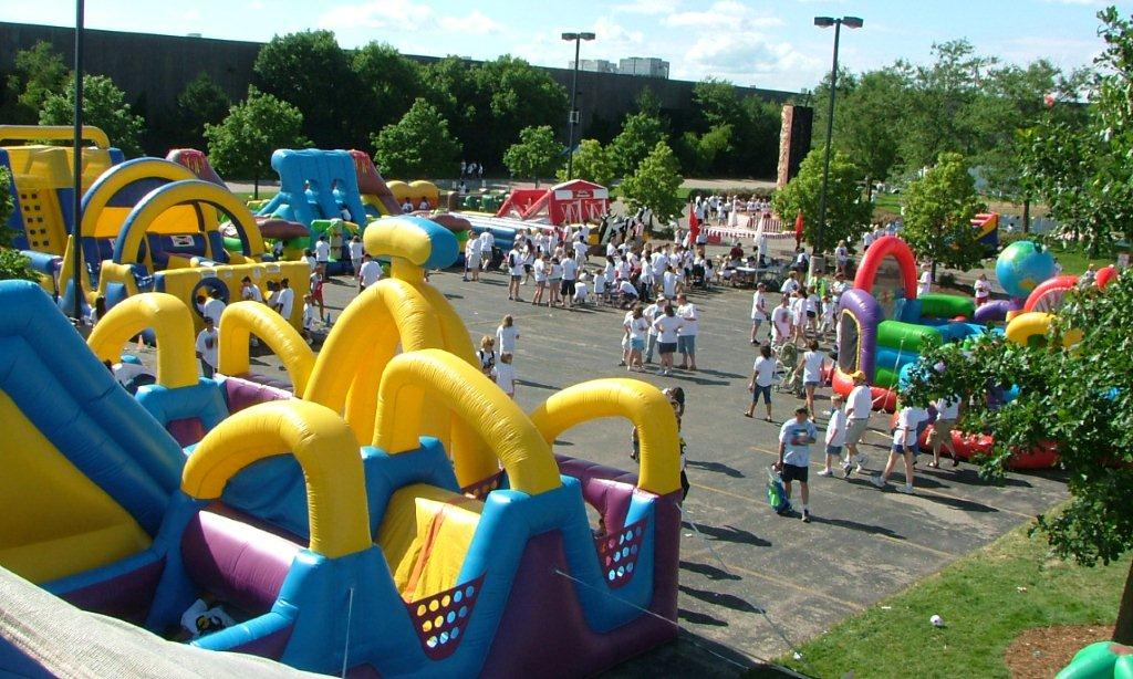 Inflatable Games at a company picnic
