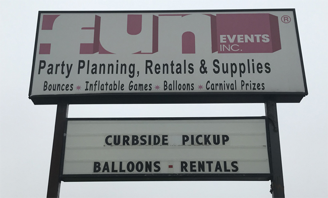 Fun Events Inc. Milwaukee Party Supplies - Curbside Pick up
