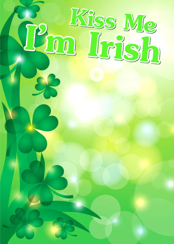 Kiss Me I'm Irish Photo Backdrop Party Rental