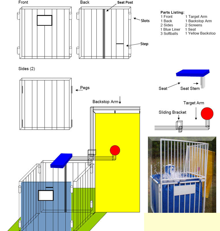 Instructions on how to setup fun events dunk tank party rental