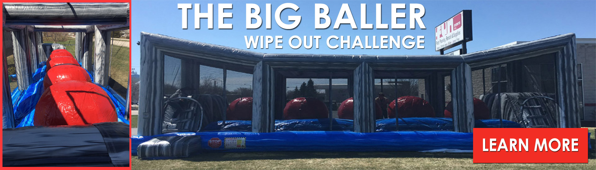 Big Baller Wipe Out Inflatable Obstacle Challenge