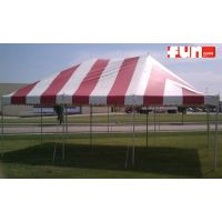 Party Tent Rental - Red & White - 20 x 30