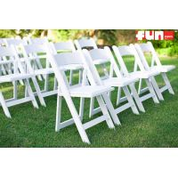 Folding White Wood Chair Rental