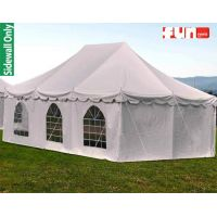 White Window Color Tent Sidewall Rental