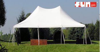 Party Tent Rental - Elite White - 20 x 30 Wedding Tent