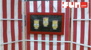 Bart Simpson Suction Dart Carnival Midway Game