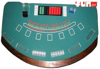Casino Game Rental - Blackjack Table