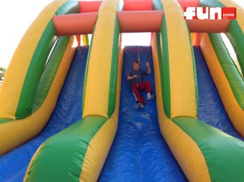 Triple Lane Inflatable Obstacle Slide