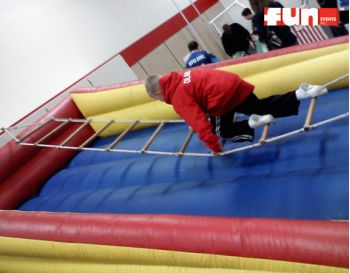 Inflatable Ladder Climbing Challenge