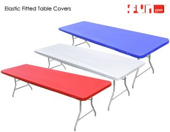 Eight Foot Table Elastic Fitted Kwik Cover