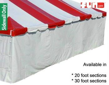White Solid Color Tent Sidewall Rental