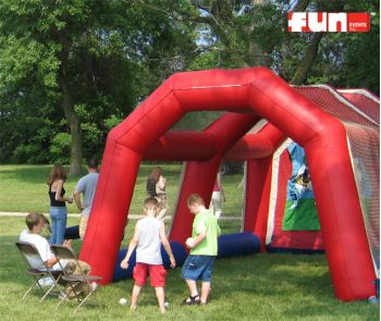 Speed pitch rental inflatable
