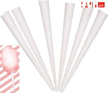 Cotton Candy - Paper Cone Sticks