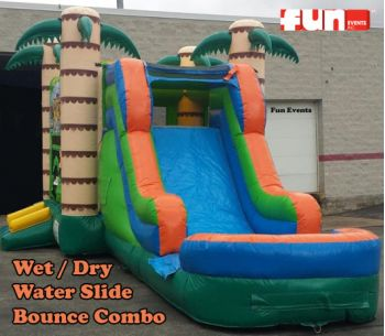 Tiki Inflatable Water Slide Rental