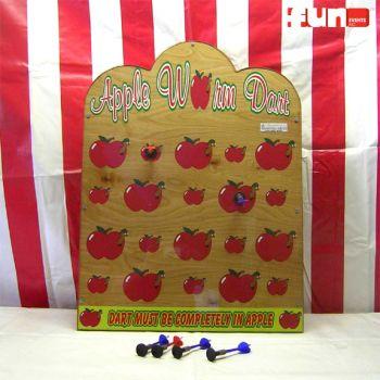 Apple Worm Dart Carnival Game
