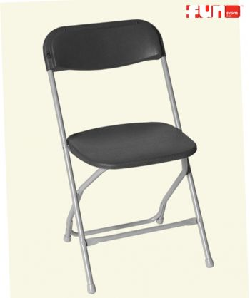 Charcoal Gray Folding Chair Rental