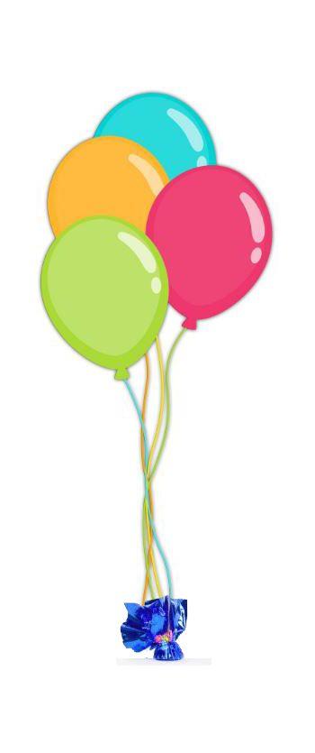4 Latex Balloons